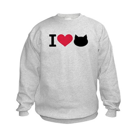 I love cats Kids Sweatshirt