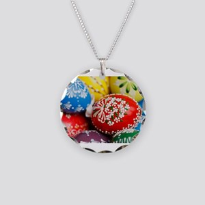 Easter Necklace Circle Charm
