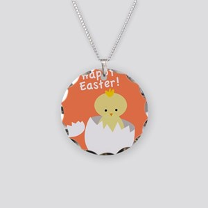 Happy Easter Peeps Necklace Circle Charm