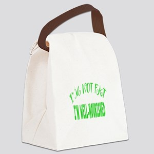 Not Fat, Well Nourished Canvas Lunch Bag