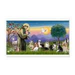 StFrancis-10 dogs 20x12 Wall Decal