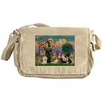 StFrancis-10 dogs Messenger Bag