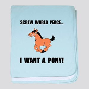 Want Pony baby blanket