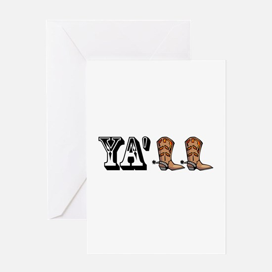 Yall Boots Greeting Card
