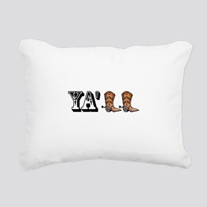 Yall Boots Rectangular Canvas Pillow