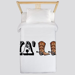 Yall Boots Twin Duvet