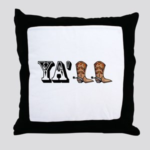Yall Boots Throw Pillow