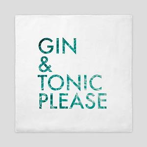 gin tonic please Queen Duvet