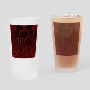 Red Helping Hands Drinking Glass