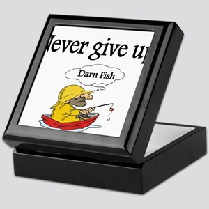 Never give up Keepsake Box