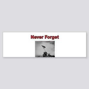 Never Forget-Iwo Jima Bumper Sticker