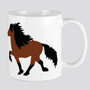 Bay Icelandic Horse Mugs