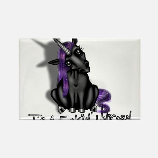 Ima Fuckin Unicorn /Black Rectangle Magnet
