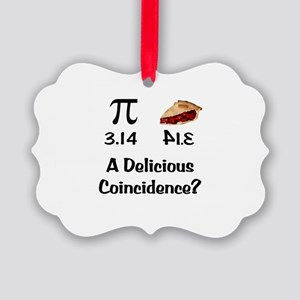 Pi Coincidence Picture Ornament