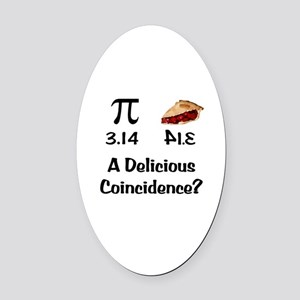 Pi Coincidence Oval Car Magnet