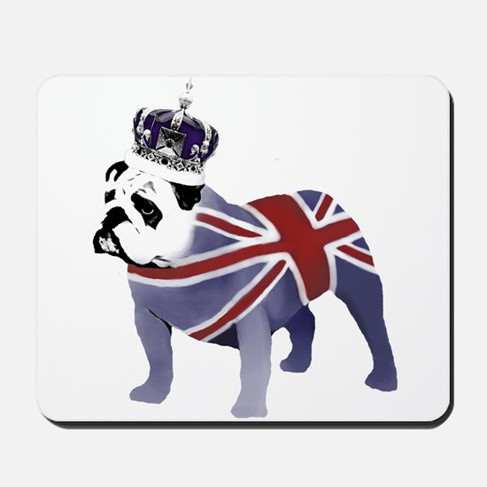 English Bulldog and Crown Mousepad