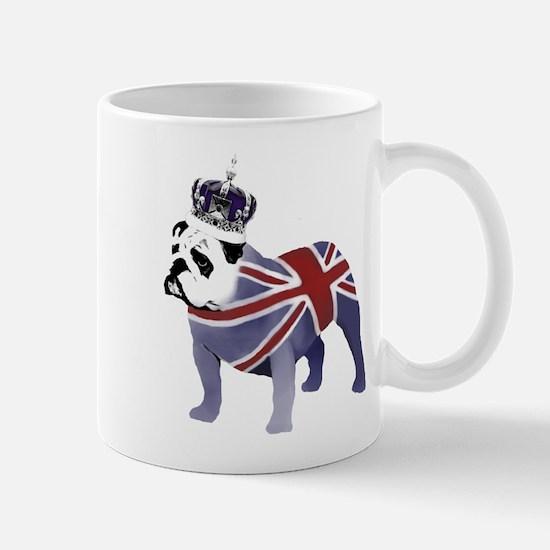 English Bulldog and Crown Mug