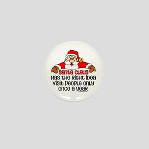 Santa Claus Humor Mini Button