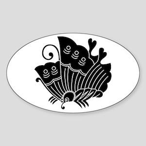 Ageha Butterfly Sticker (Oval)