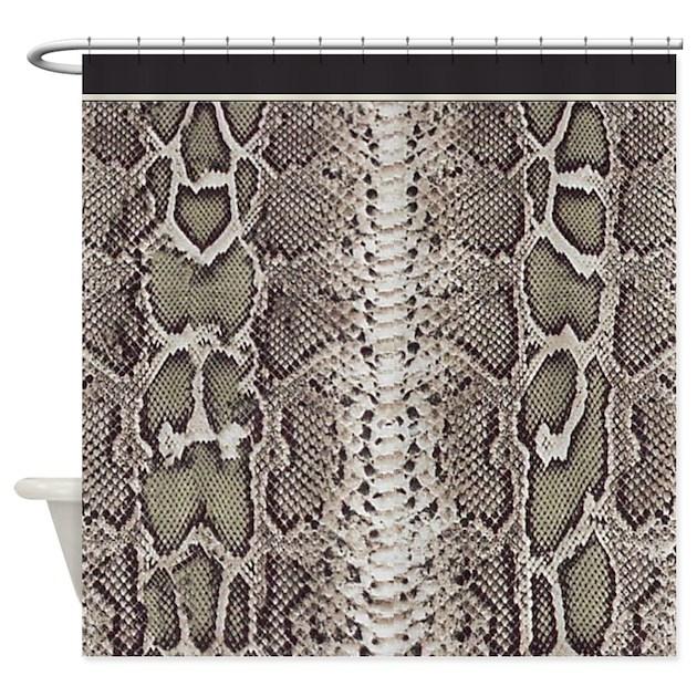 Snakeskin Animal Print Shower Curtain By DigitalRealityArt