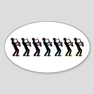 Saxophone Players Sticker (Oval)