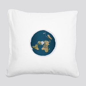 Flat Earth Square Canvas Pillow