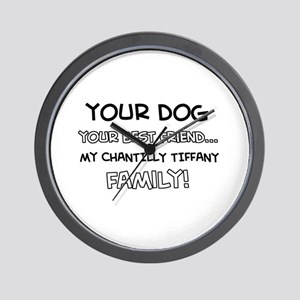 Chantilly Tiffany Cat designs Wall Clock