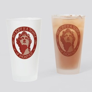 Temple of Dionysus Drinking Glass