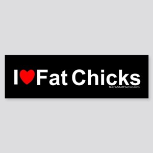 Fat Chicks Sticker (Bumper)