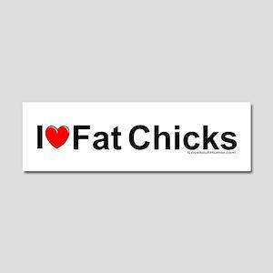 Fat Chicks Car Magnet 10 x 3