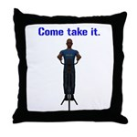 Molon Labe (Gatling, Male) Throw Pillow