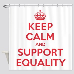 K C Support Equality Shower Curtain
