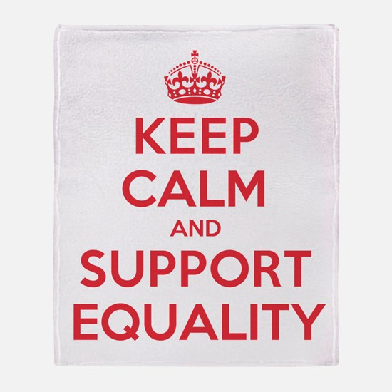 K C Support Equality Throw Blanket