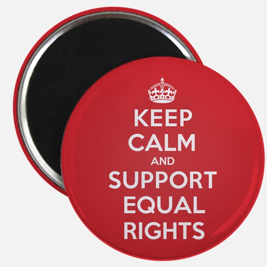 K C Support Equal Rights Magnet