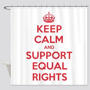 K C Support Equal Rights Shower Curtain