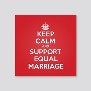 K C Support Equal Marriage Sticker