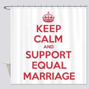 K C Support Equal Marriage Shower Curtain