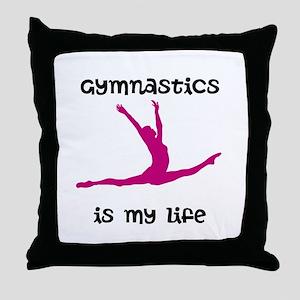 Gymnastics is My Life Throw Pillow