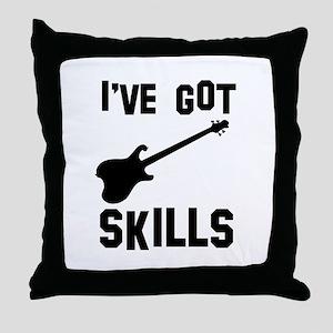 Electric Guitar Designs Throw Pillow