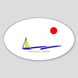 Miramar Oval Sticker