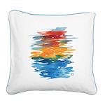 Atom Sea #21 Square Canvas Pillow