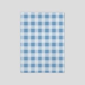 Dusk Blue Gingham pattern 5'x7'Area Rug