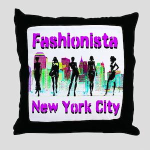 NYC FASHION Throw Pillow