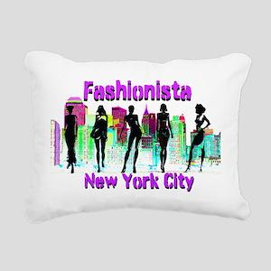 NYC FASHION Rectangular Canvas Pillow