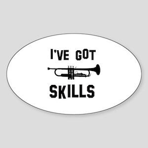 Trumpet Designs Sticker (Oval)