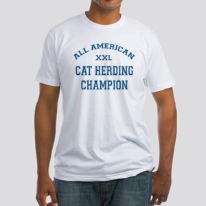 AA Cat Herding Champion Fitted T-Shirt