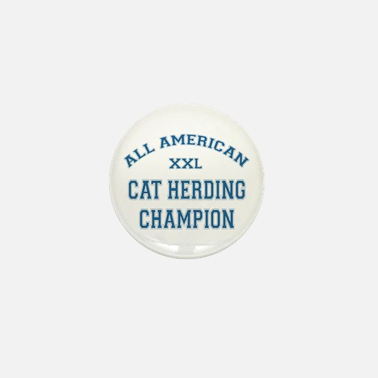 AA Cat Herding Champion Mini Button