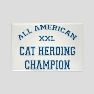 AA Cat Herding Champion Rectangle Magnet