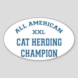 AA Cat Herding Champion Oval Sticker