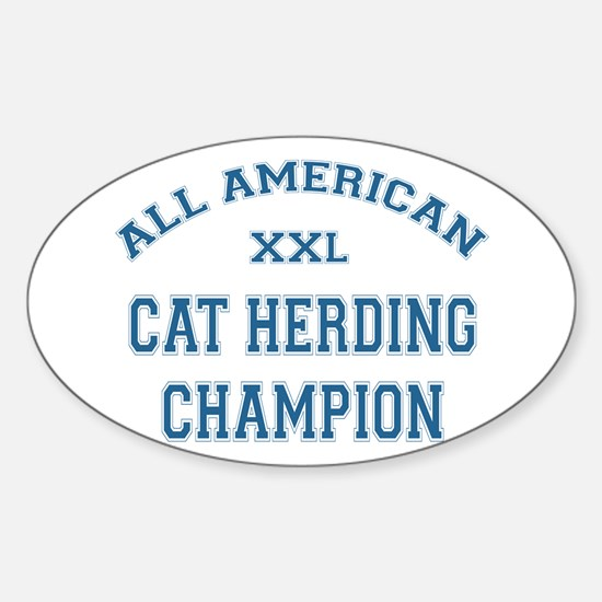 AA Cat Herding Champion Oval Decal